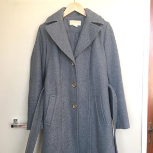 Michael Kors Gray Wool-Blend Coat